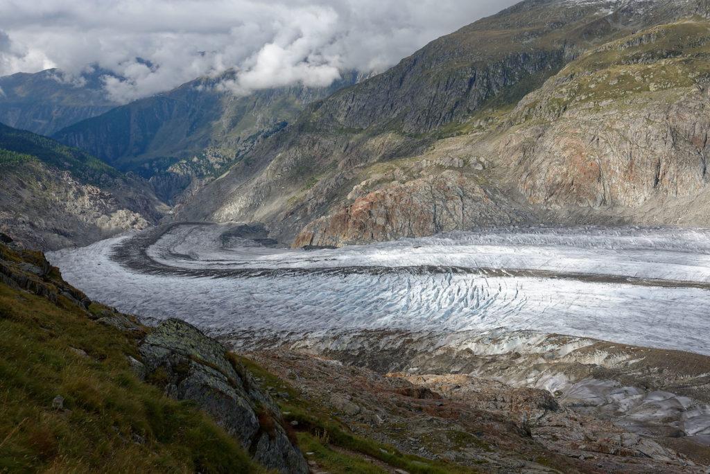 Extrémité de la langue glaciaire