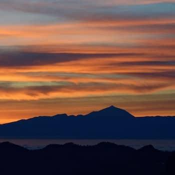 Coucher de soleil sur le volcan Teide