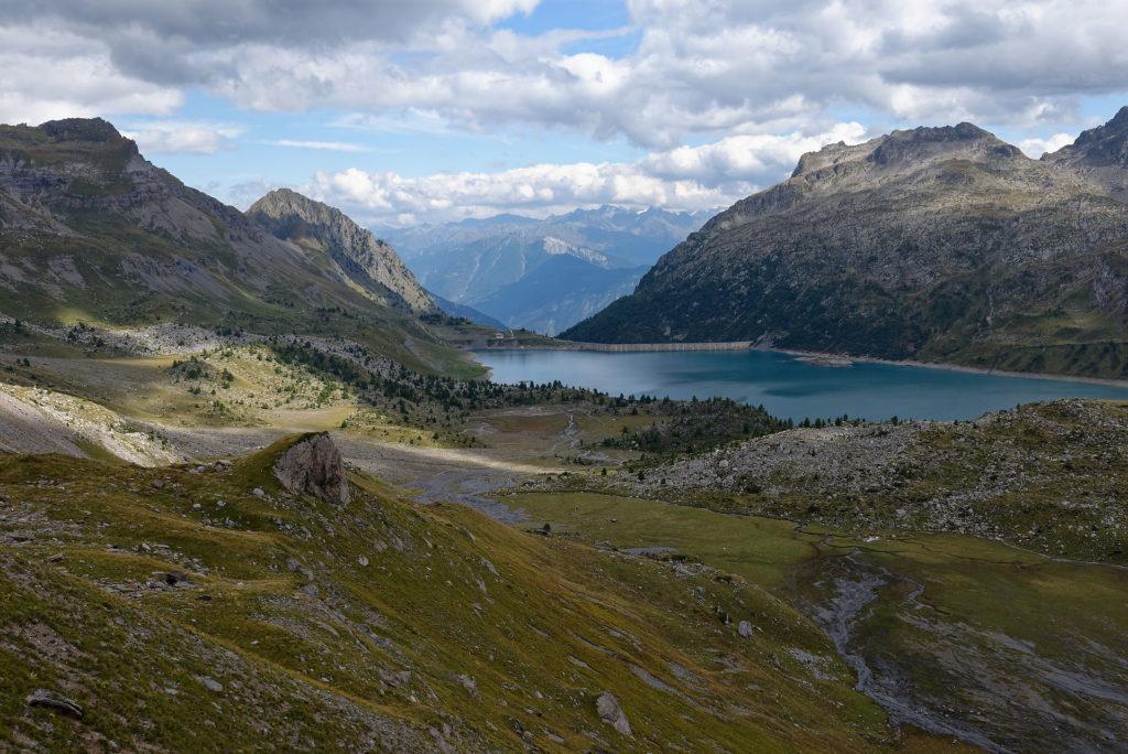 Le lac de Salanfe et son barrage
