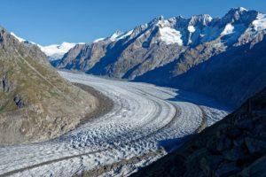 Le glacier d'Aletsch vu du Bettmerhorn