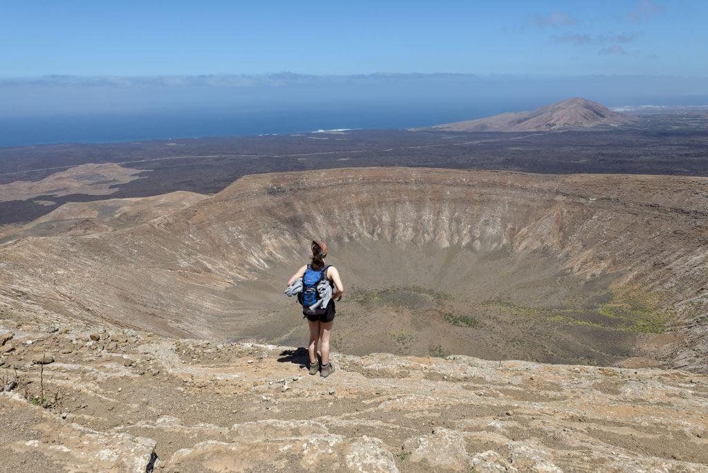 Cratère caldeira blanca, Lanzarote