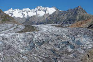 Surface du glacier d'Aletsch
