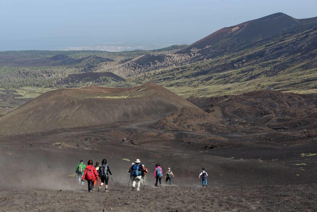 Randonnée sur les pentes de l'Etna