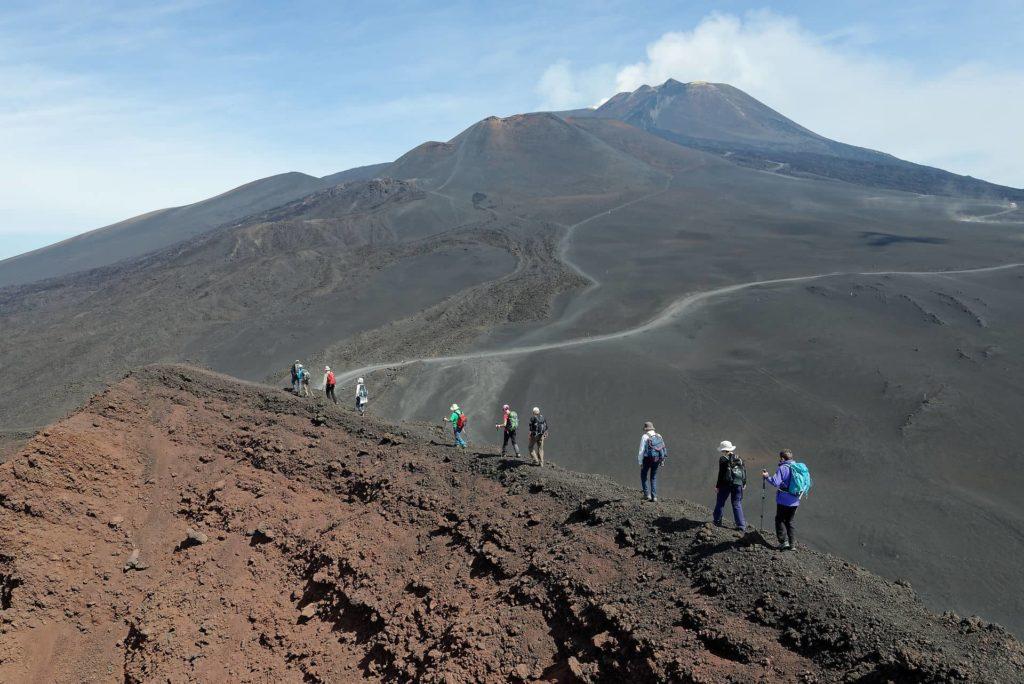 Randonnée sur les cônes volcaniques de l'Etna