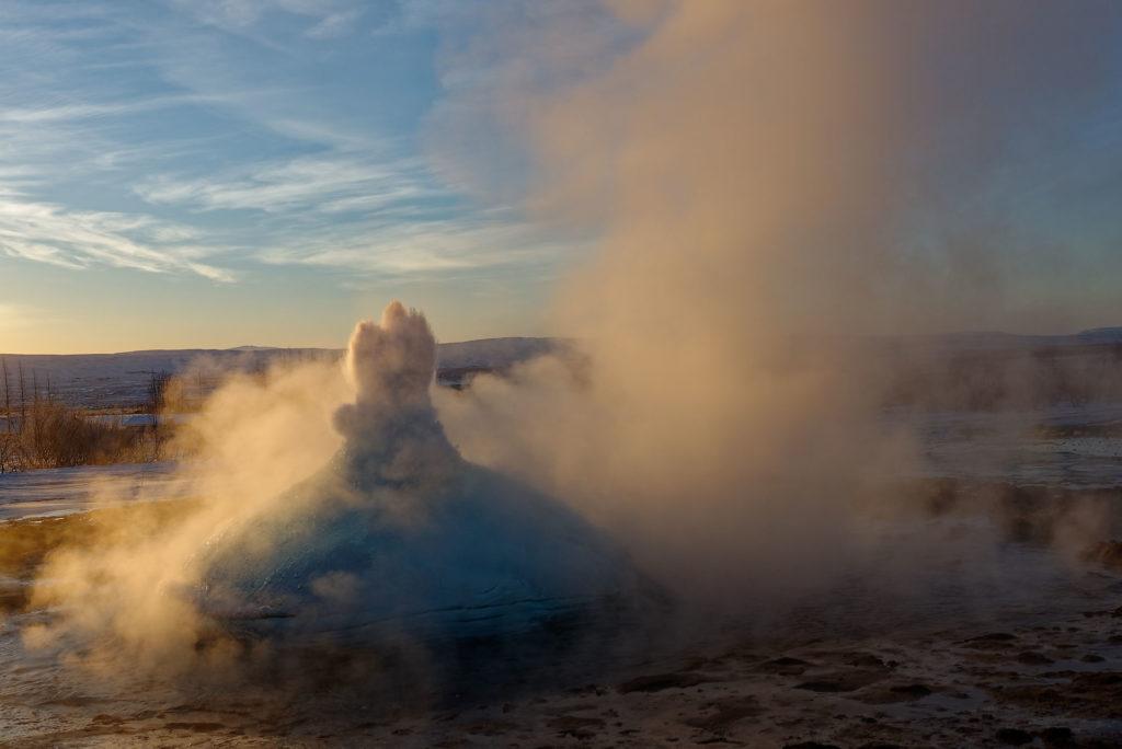 Bulle geyser Islande