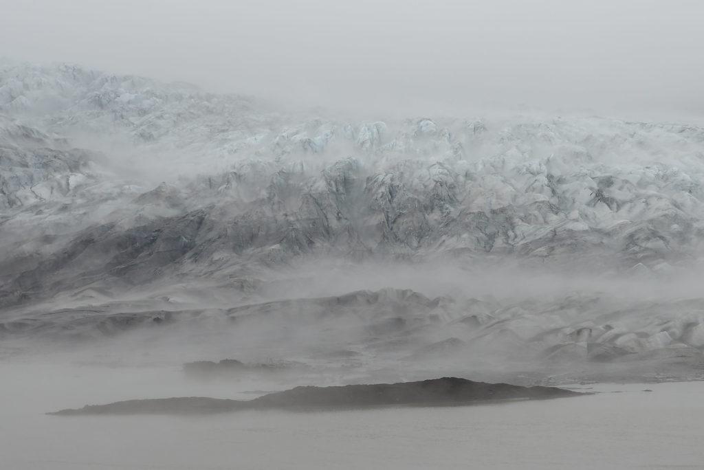 Glacier descendant du Vatnajökull