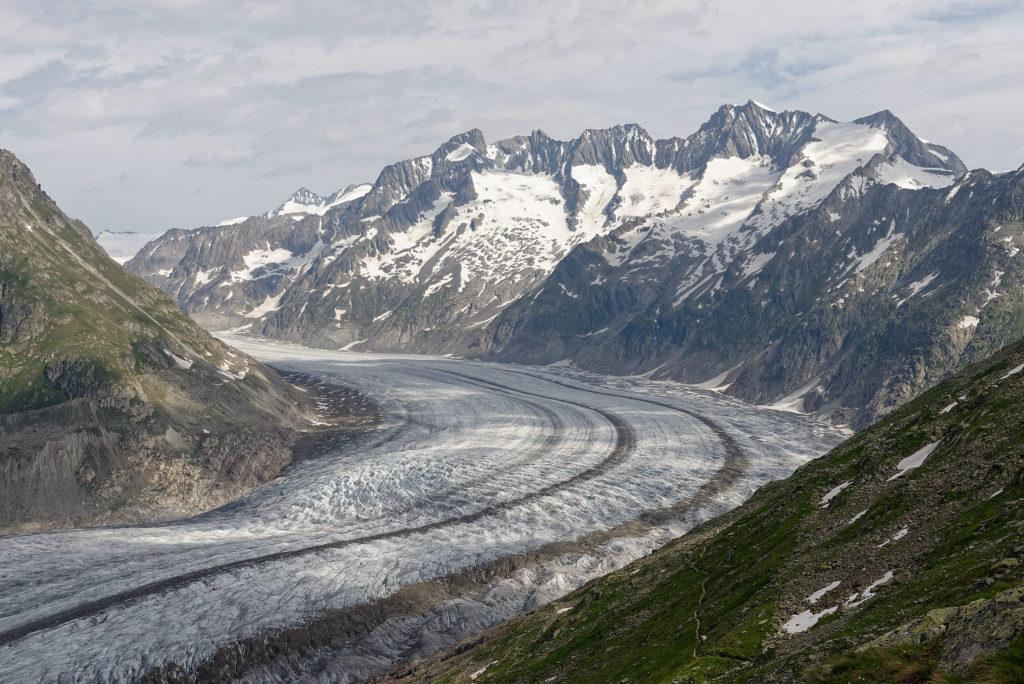 Vue du glacier d'Aletsch depuis le Bettmerhorn