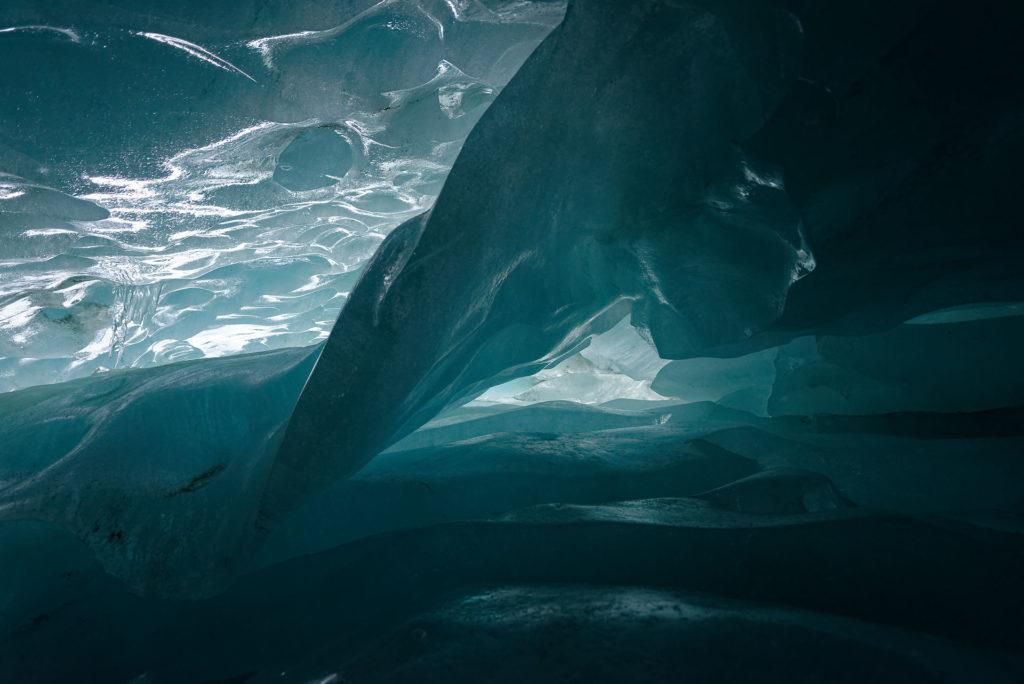 Glace au glacier de Zinal