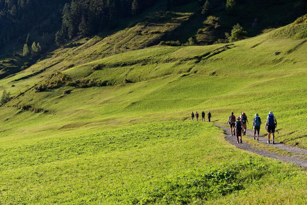 Fin de randonnée au Binntal