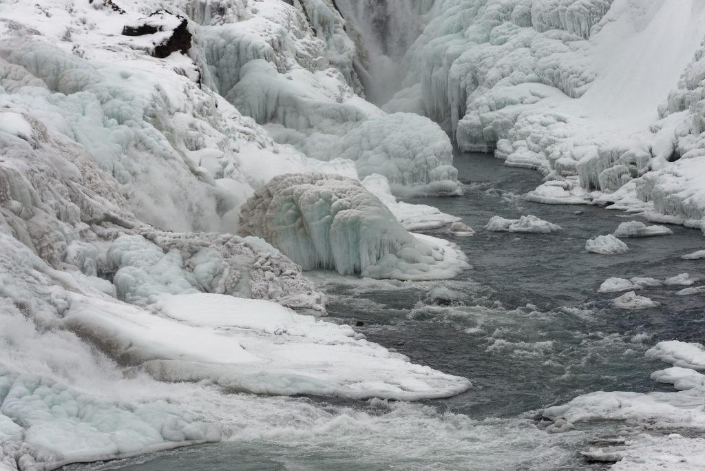 Gullfoss gelée en hiver