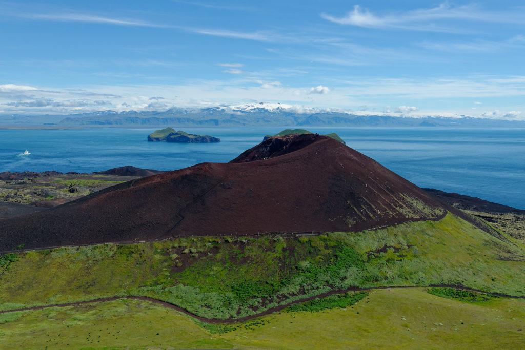 Eldfell, cône volcanique, îles vestmann