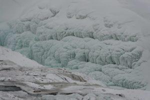 Gullfoss gelée, Islande