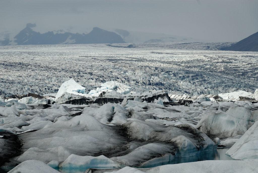 Lagune glaciaire de Jokulsarlon et le Vatnajökull