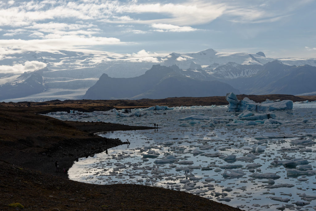 Montagne, lac et glacier en Islande