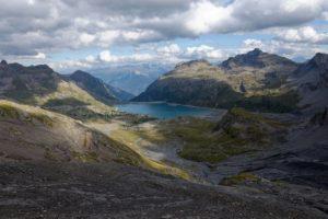 Lac de Salanfe vu du col de Susanfe
