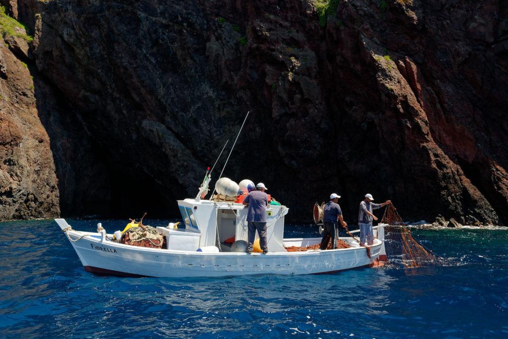 Pêcheurs à Lipari