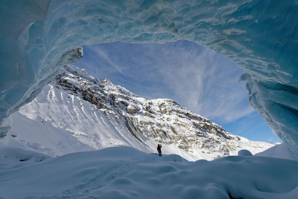 Grotte sous-glaciaire à Zinal