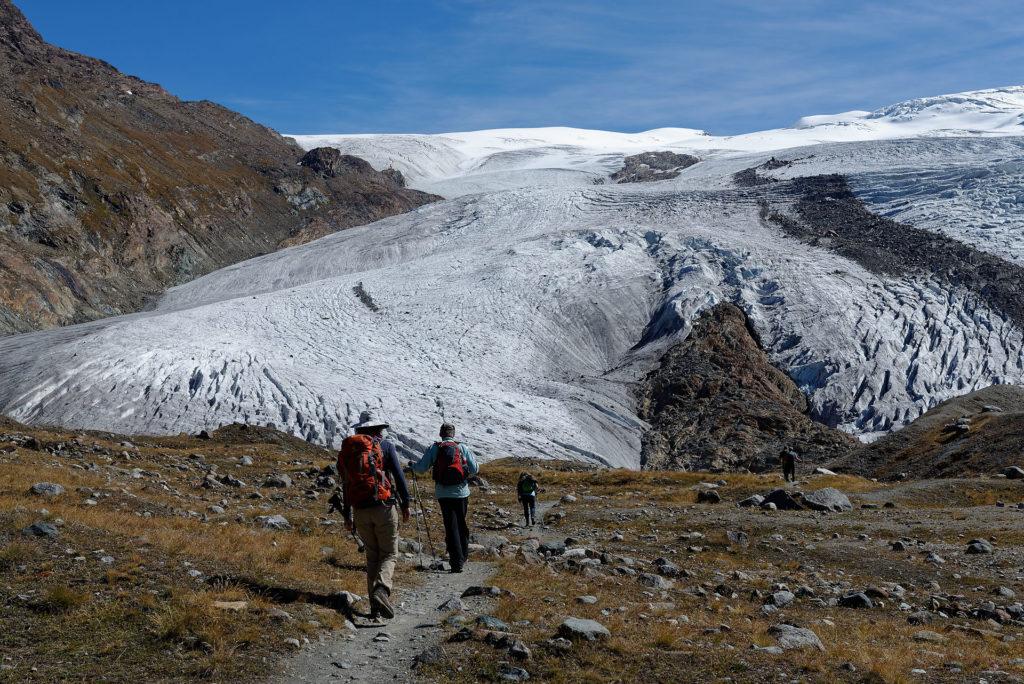 Randonnée jusqu'au glacier du Gorner