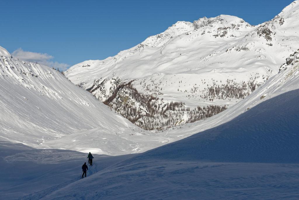 De retour du glacier de Zinal