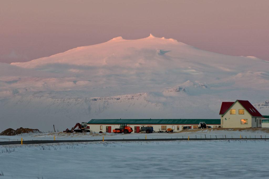 Snaefellsjökull en hiver