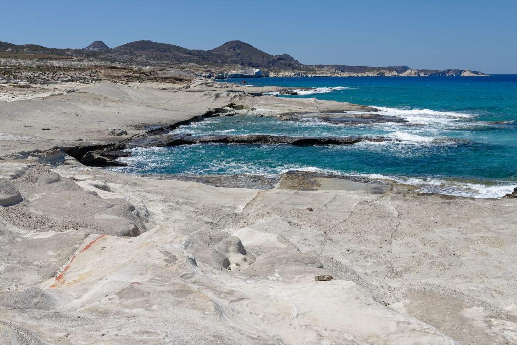Mer agitée à Milos