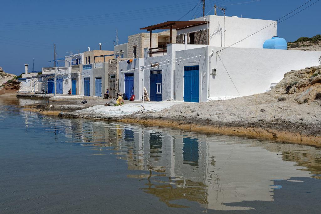 Maisons au bord de la mer