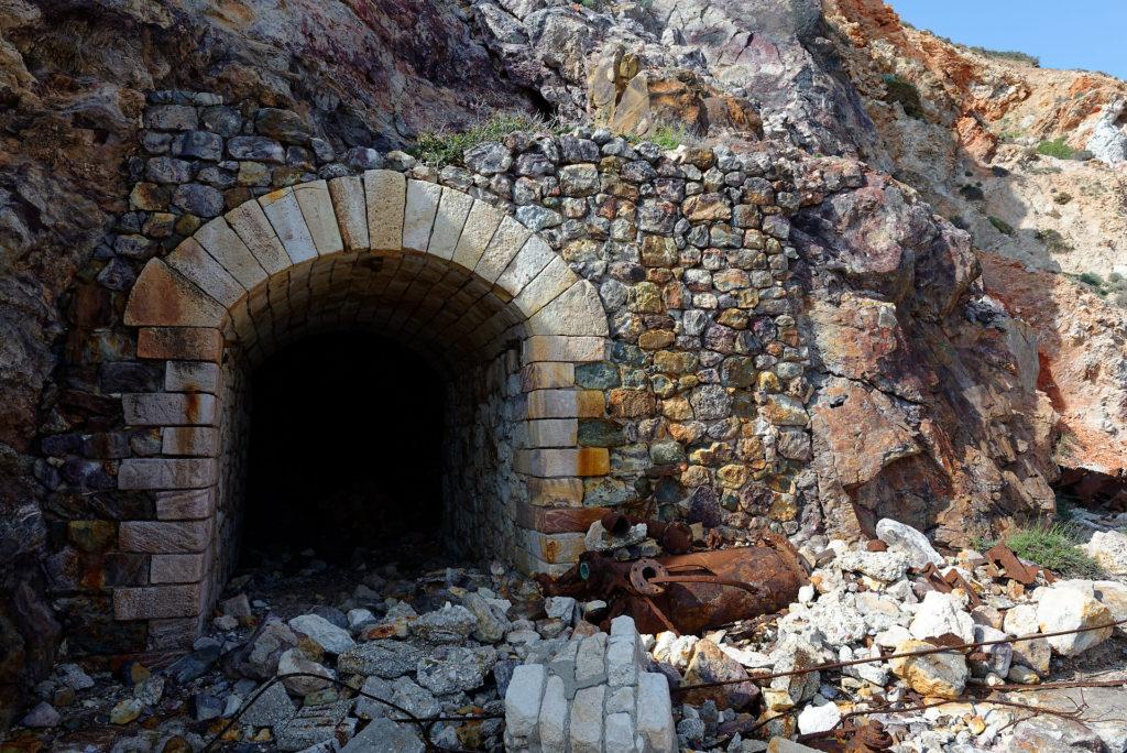 Entrée d'une galerie minière