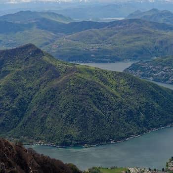 Monte San Giorgio vu du Monte Generoso