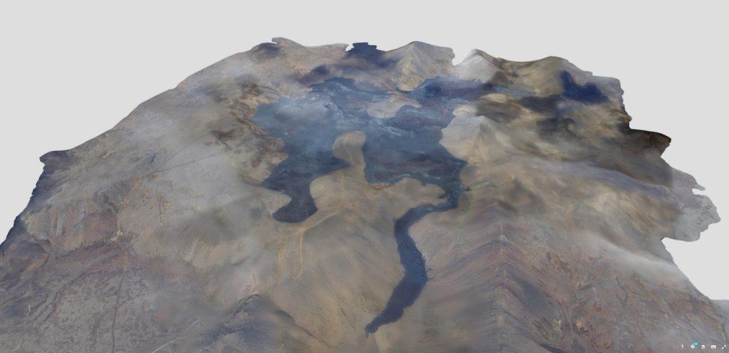 Modèle 3D du champ de lave de Fagradalsfjall
