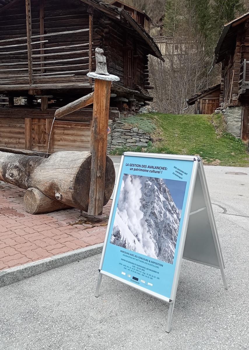 Exposition sur la gestion des avalanches aux Haudères