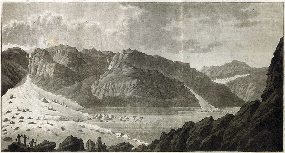 Barrage de glace du Giétro, 1818