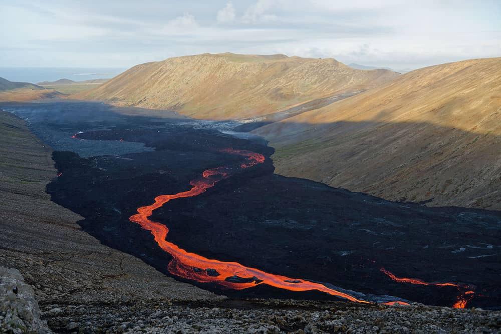Coulée de lave en islande